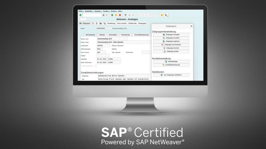 GRÜN MFplus ist erneut von SAP zertifiziert worden.