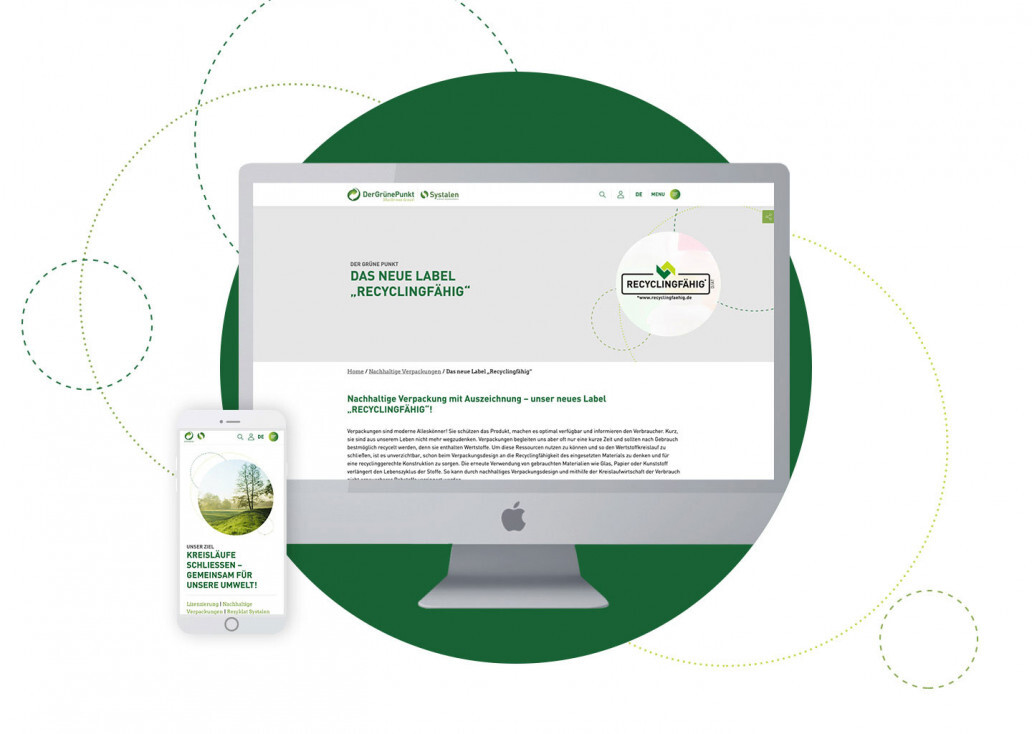 """Soft relaunch of the """"Green Dot"""" website by digital agency giftGRÜN"""