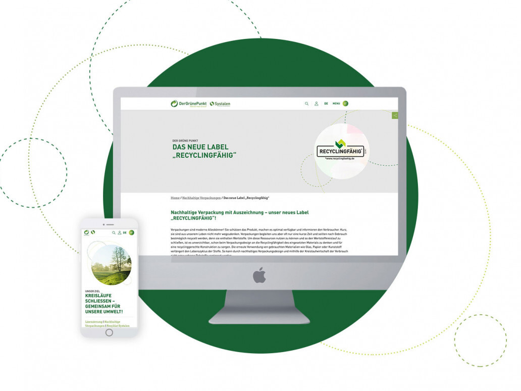 "Soft relaunch of the ""Green Dot"" website by digital agency giftGRÜN"