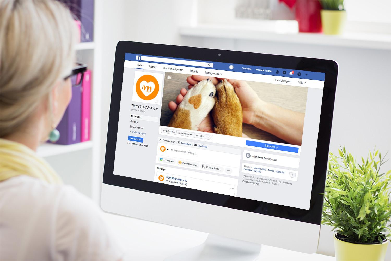 Online-Spendenformulare können mit einem Call-to-action-Button in Facebook verbunden werden.
