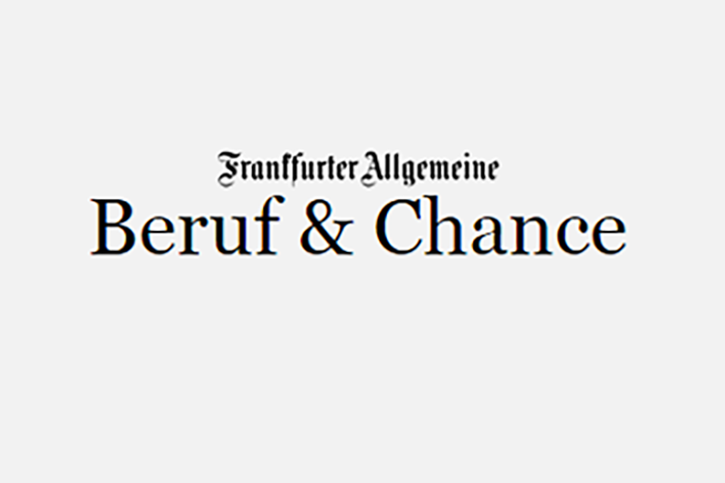 The GRÜN Software AG in the Frankfurter Allgemeine Zeitung.