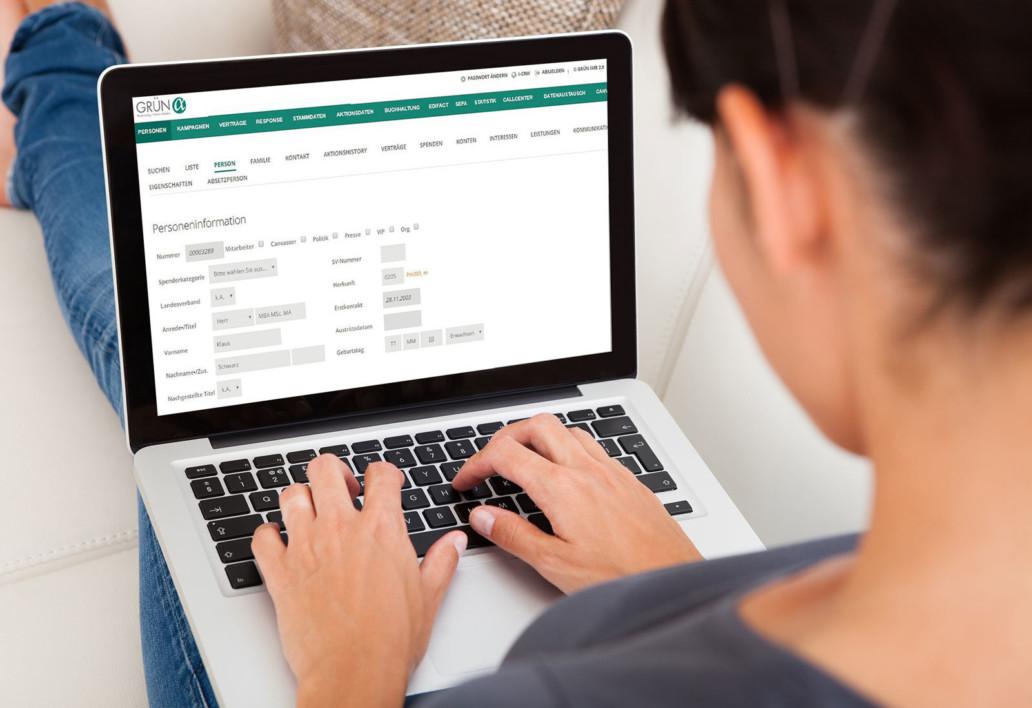 GRÜN alpha LASSIE ist die neue Online-Spendenverwaltung zum Einstieg ins digitale Fundraising.