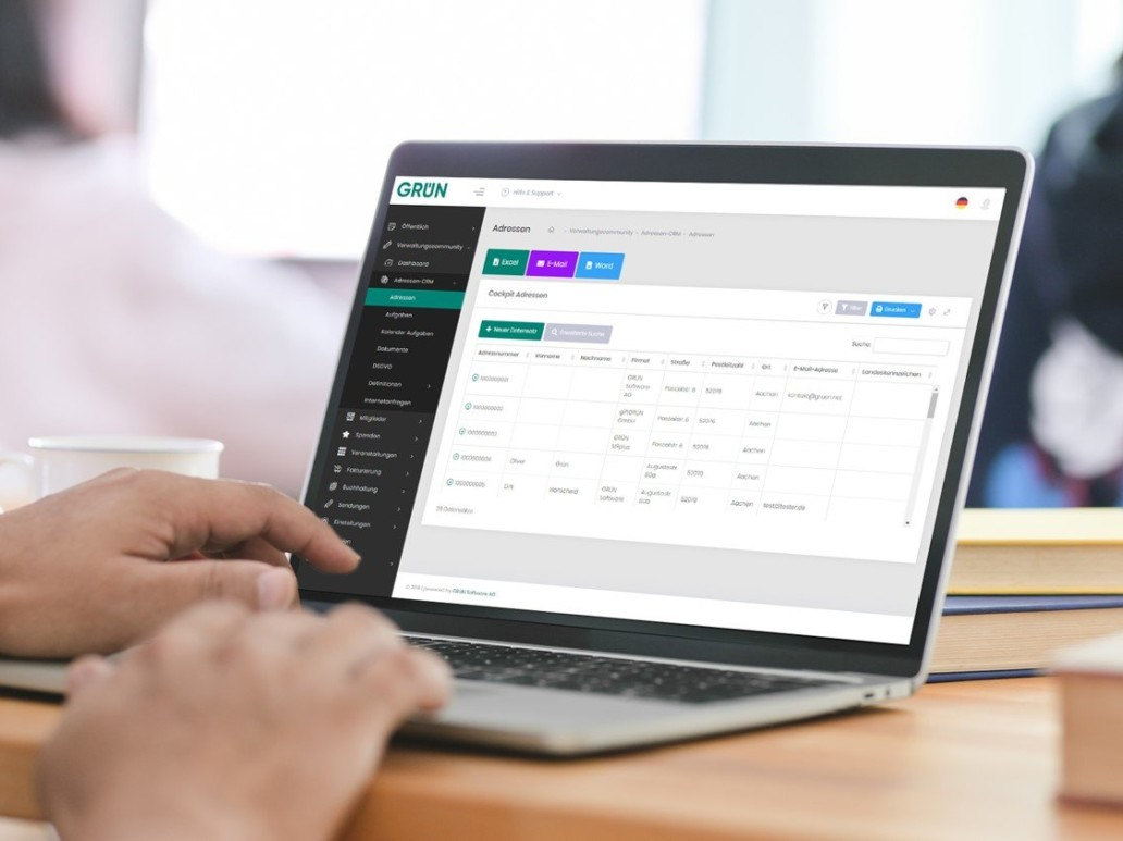 GRÜN eVEWA4 ist die neue Online-Branchensoftware für Non-Profit-Organisationen und Bildungsanbieter.