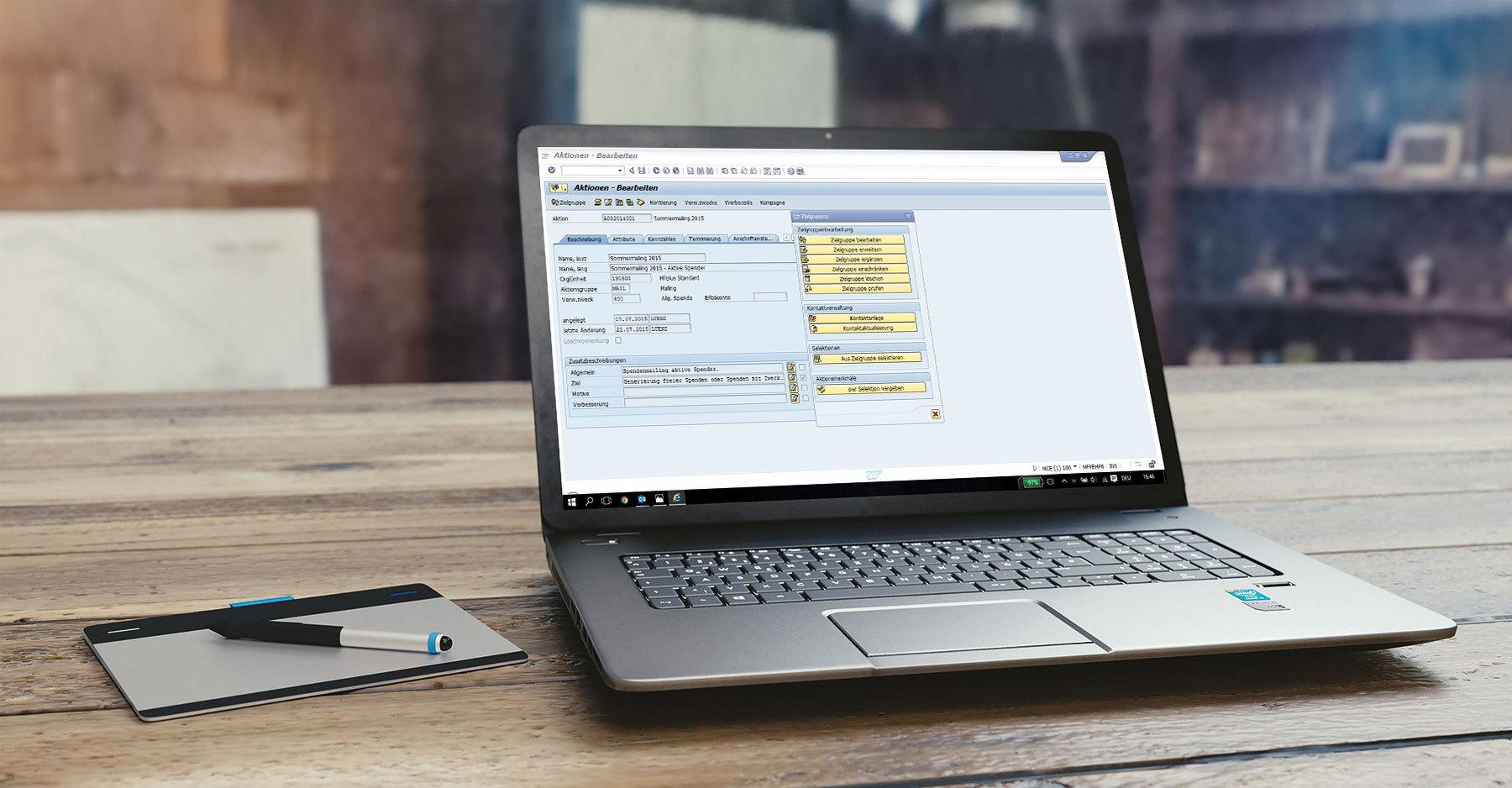 GRÜN MFplus - SAP zertifizierte Software für die Mitgliederverwaltung und für die Spendenverwaltung