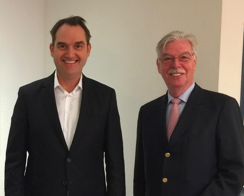 Die beiden Geschäftsführer der VVWB Gruppe: Dr. Oliver Grün (links) und Dieter Philipp (rechts).