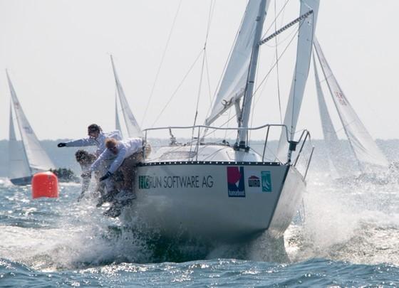 GRÜN Sailing Team beim Segeln 2014