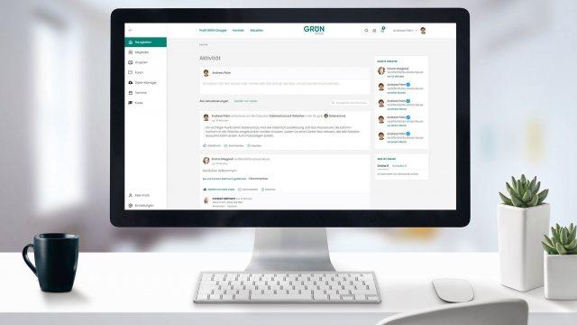 GRÜN.SOCIAL2: Social collaboration with eVEWA integration