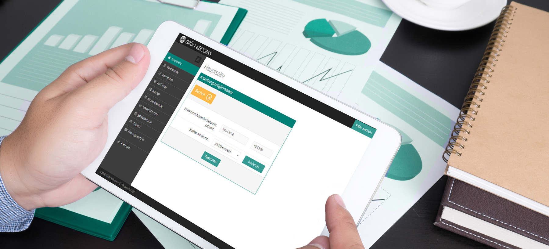 Neue Online Zeiterfassung GRÜN ZICOM Cloud als Einstiegslösung