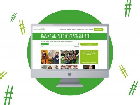 #Herzenshelfer, eine Aktion der Stiftung Universitätsmedizin Aachen