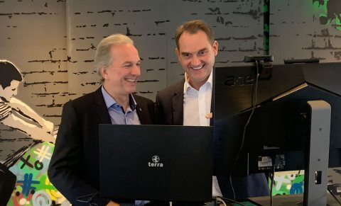 Dirk Hönscheid und Dr. Oliver Grün bei den GRÜN Innovations! 2021