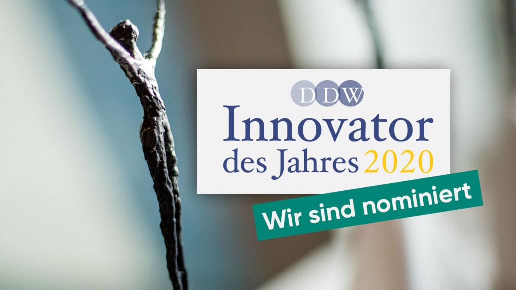 Die GRÜN Software Group GmbH wurde als Innovator des Jahres 2020 nominiert.