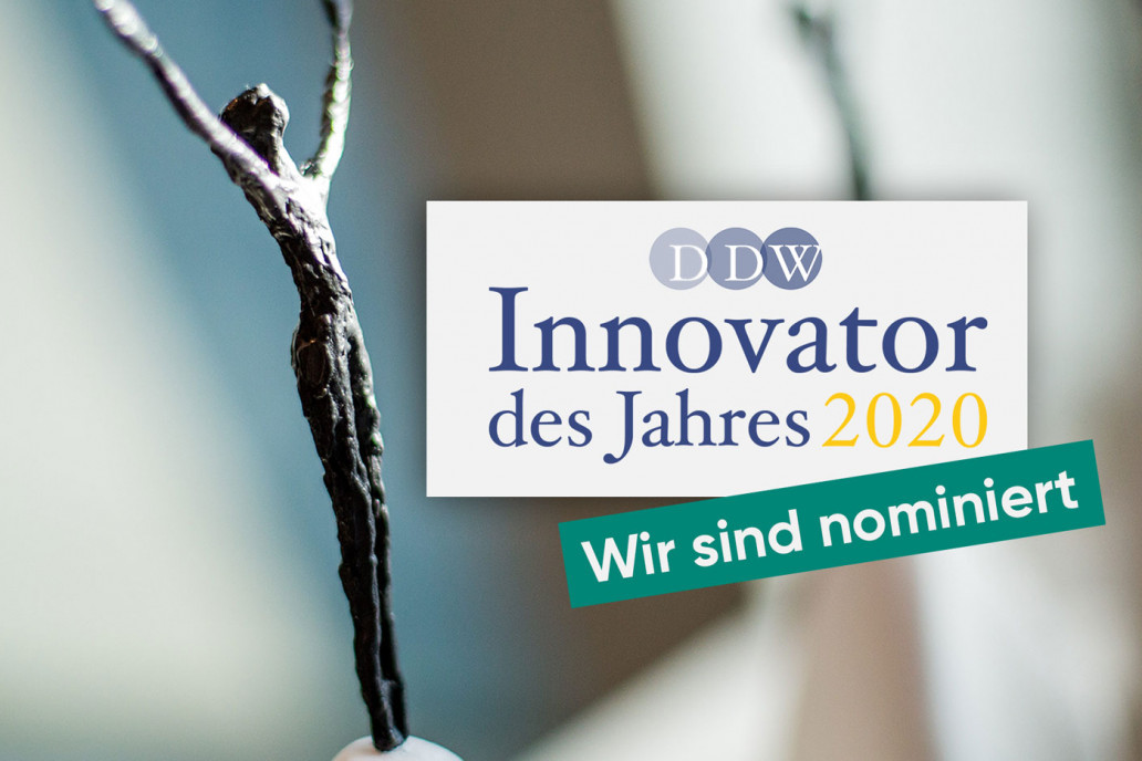 The GRÜN Software Group GmbH was nominated as Innovator of the Year 2020.