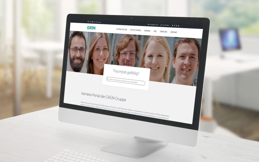Das neue Karriere-Portal der GRÜN Software AG ist online.