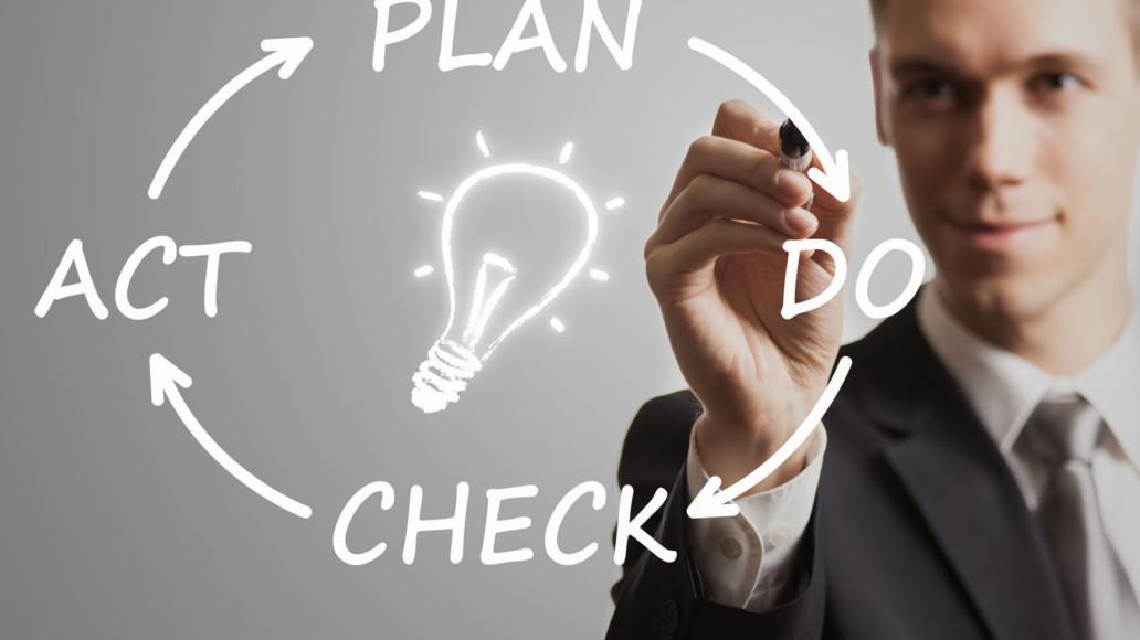 """Die Basis beim kontinuierlichen Verbesserungsprozess ist der """"Plan-Do-Check-Act-Verbesserungszyklus""""."""