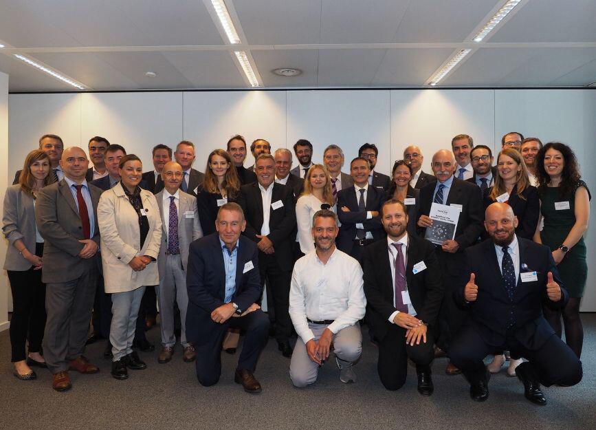 Teilnehmer der Generalversammlung in Brüssel.