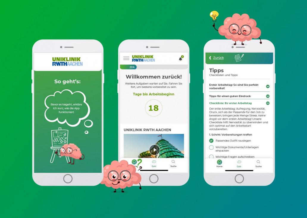A progressive web app supports the Aachen University Hospital in onboarding new employees