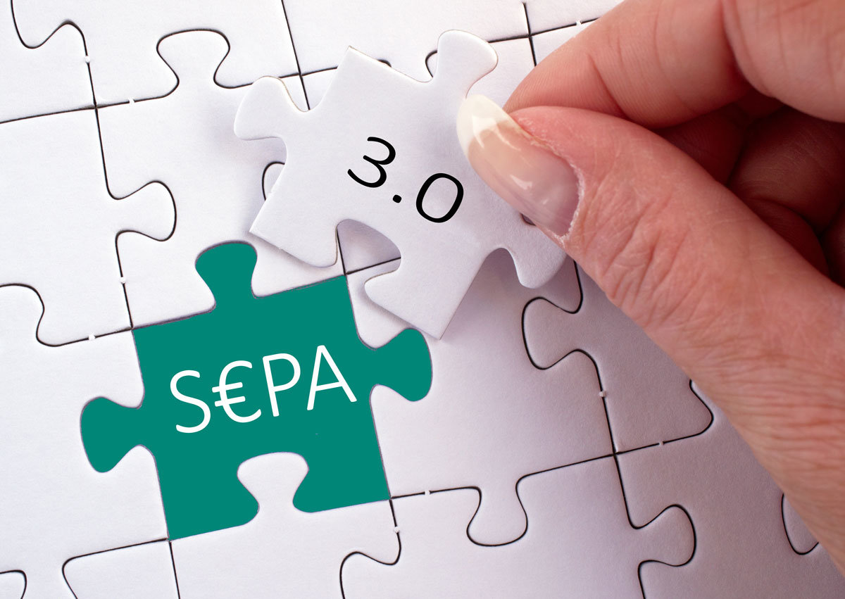 SEPA 3.0 kommt - Die Änderungen werden in GRÜN VEWA6 ab Stand 91a verfügbar sein.