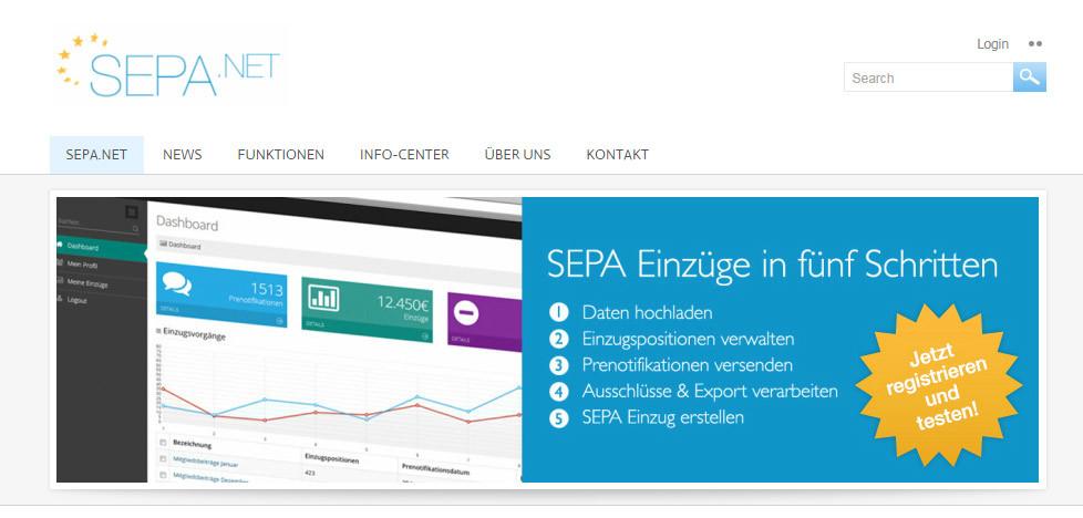 SEPA.NET bietet SEPA für Alle aus der Cloud