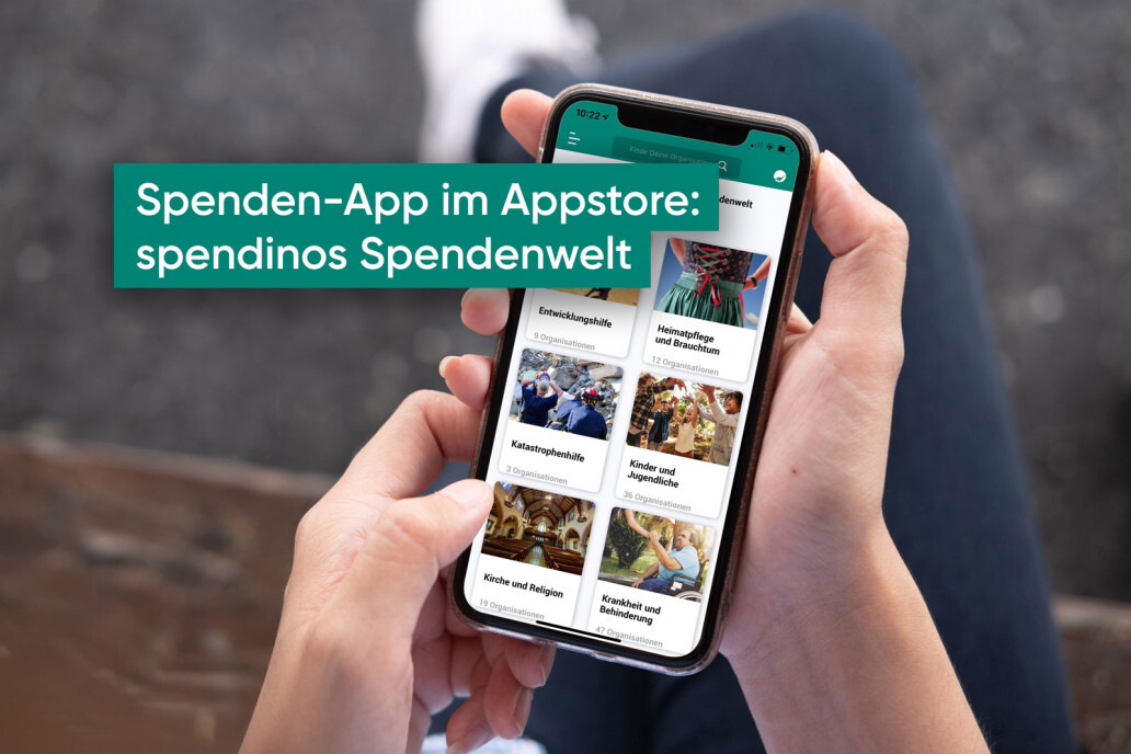Donation app in the app store: Spendinos Spendenwelt