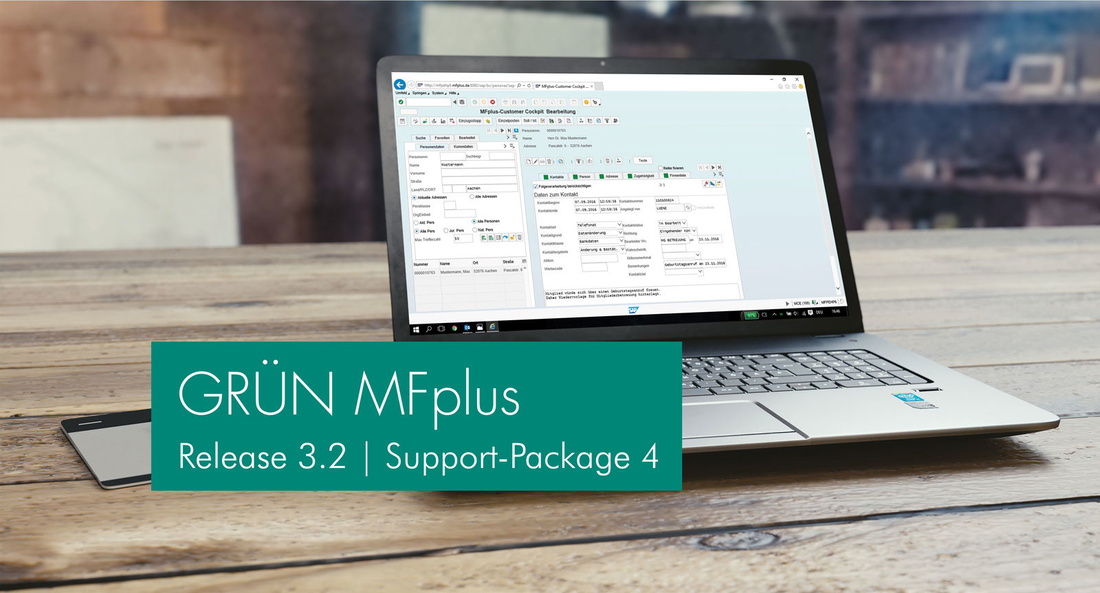 GRÜN MFplus Support Package 4 published.
