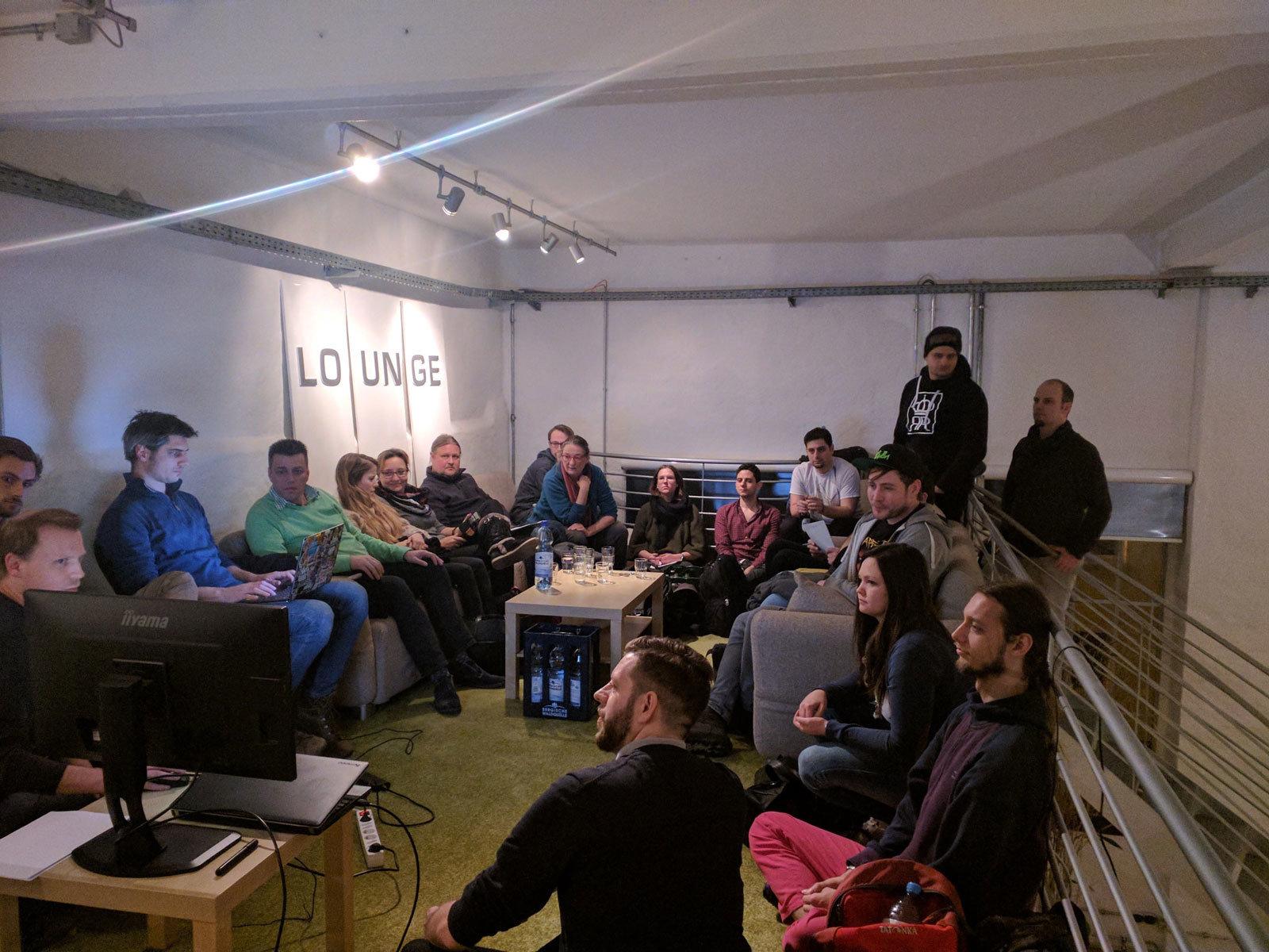 Über 20 Teilnehmer konnten beim 3. WordPress-Meetup im Innenstadt-Büro der Digitalagentur giftGRÜN begrüßt werden.